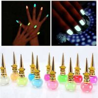 Women Fluorescent Non-toxic Nail Polish Gel Nail Powder Glow In Dark Varnish Vi