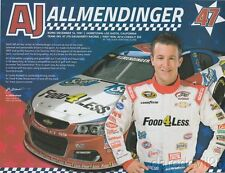 2016 AJ Allmendinger Food 4 Less Chevy SS NASCAR Sprint Cup postcard