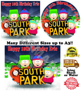 South Park Personalised Edible Wafer Icing Cake Topper Costco Any Size upto A3