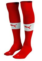 5 PAIR OF  PUMA  Men's Football Or Soccer Socks SIZE 3-9 Red or White