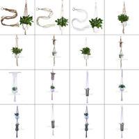 Handmade Macrame Plant Hanger Pot Holder Flowerpot Holder Garden Lifting Rope
