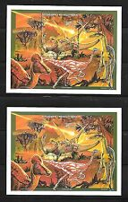 Madagascar (Malagasy) Sc 1346-8 NH 2M/S+S/S PERF & IMPERF of 1997 - DINOSAURS