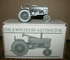 *1956 John Deere 620 Two Cylinder Pewter Tractor 1/43 Spec Cast Toy JDM-015 jd