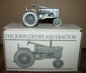 *1956 John Deere 620 Two Cylinder Pewter Tractor 1/43 Spec Cast Toy JDM-015 jd