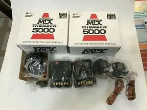 "Rare Pair of MTX Thunder 5000 5 1/4"" midrange Speakers new in box with tweeters"