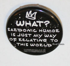 """CW RIVERDALE High Jughead Iconic Saying 1 1/4"""" Button Pin Back Pinback Licensed"""