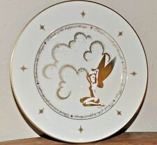 Disney Gallery Tinkerbell Pixie Dust Gold Plate Ceramic Porcelain