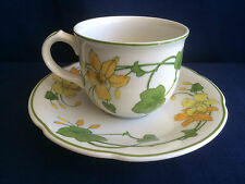 Villeroy & Boch Geranium tea cup & saucer (minor scratches to saucer centre)