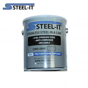 1 Gallon STEEL-IT 1002G Gray Stainless Steel Polyurethane Coating