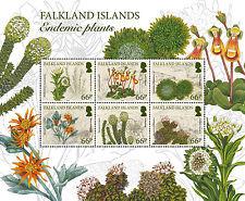 Falkland Is. 2016 Endemic Plants 6v sheetlet MNH