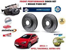 pour Opel ASTRA GTC 2011- > avant Performance Kit Disque frein + Plaquettes