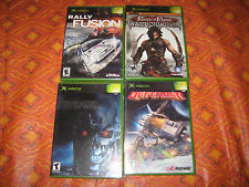 4 New Sealed Xbox games rally fusion, terminator, prince of persia, defender