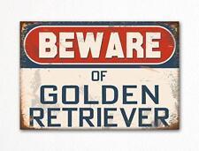Beware of Golden Retriever Dog Breed Cute Fridge Magnet