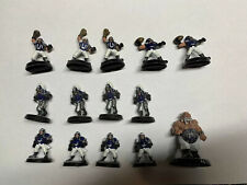Warhammer Human Team Blood Bowl Fantasy Painted With Numbers And Ogre