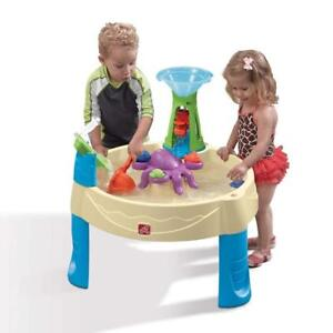 Step2 Wild Whirlpool Water Table, Little Kid Toddler Outdoor Water Play