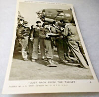 "WWII Red Cross Nurse ""Clubmobile"" RPPC/""Just Back From The Target"" Unused/APO"
