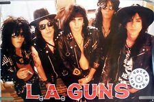RARE LA GUNS COCKED & LOADED 1989 VINTAGE ORIG MUSIC RECORD STORE PROMO POSTER