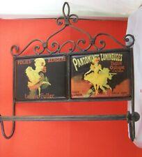 Wrought Iron Towel Bar W. Folies Bergere Tiles