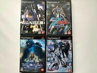Lot 4 PlayStasion2 GUNDAM SET from JAPAN UsedGAME BANDAI PS2 NTSC-J (Japan)