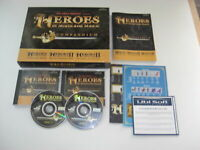 Heroes of Might & Magic COMPENDIUM Pc Cd Rom Heroes 1 & II Large BIG BOX