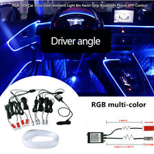12V RGB 1IN9 5050-LED Car Atmosphere Lamp Door Dash Ambient Light Flash Strips