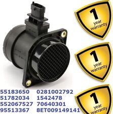 Fiat Grande Punto Linea Multipla 1999-17 Mass Air Flow Meter MAF Sensor 55183650