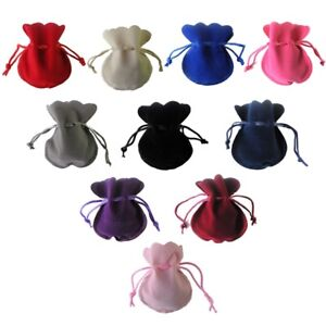 Oval Velvet Pouches Jewellery Bags Watches Drawstring Gift Wrapping Christmas