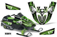 SIKSPAK Arctic Cat Sno Pro 120 Sled Wrap Snowmobile Graphics Kit All REBIRTH GRN