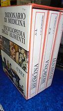 COFANETTO DIZIONARIO DI MEDICINA/ENCICLOPEDIA DEGLI ALIMENTI.AICHELBUR.UTET 1974