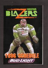 Boston Blazers--1996 Pocket Schedule--WAAF/Bud Light