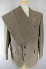 VINTAGE GUARDS TWO PLY TWIST THORNPROOF TWEED SUIT CHEST 42 INCH/WAIST 41 INCH