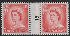 New Zealand 1954 Qeii 3d Definitive Paste-up Pair, Mnh