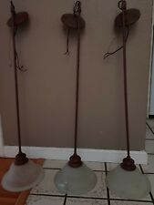 Vintage Copper Metal Pendant Fixture lamps (Good Condition)