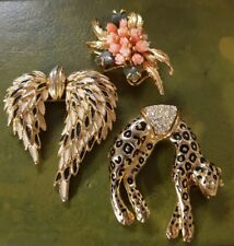Lot broche vintage doré RefV709
