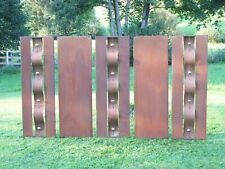 5-teilige Sichtschutz Wand Edelrost - Edelstahl - rost 270 x 155 cm- TOLL!
