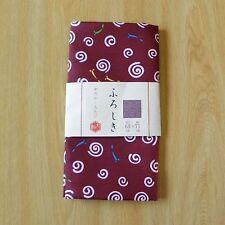 Tissu d'emballage de polyester Furoshiki japonais en couleur rouge foncé