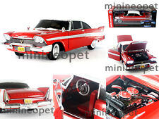 AUTOWORLD AWSS102 CHRISTINE 1958 58 PLYMOUTH FURY 1/18 DIECAST RED