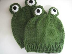 knit frog beanie - knit frog