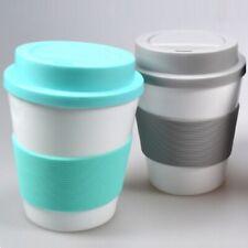 2x Kaffeebecher Kaffee-Becher Coffee Mug To Go mit Hitzeschutz aus Silikon 350ml