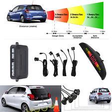 Car Parking Rear Reversing Sensors 4 Sensors Kit Buzzer LED Display Audio Alarm