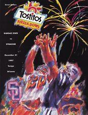 Kansas State vs Syracuse 1997 Fiesta Bowl college football program