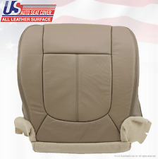 2011 - 2014 Ford F250 Lariat Driver Bottom Replacement Seat Cover Leather Tan