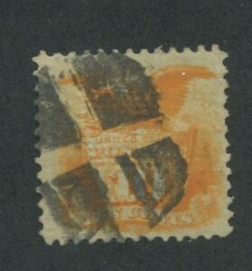 1869 US Stamp #116 10c Used F/VF Cork Cancel Catalogue Value $200