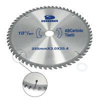 "10"" Circular Saw Blade Carbide Cutting Disc 40T-120T For Aluminum Cutting Tool"
