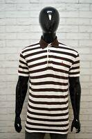 RALPH LAUREN Polo a Righe Maglia Uomo Taglia XL Maglietta Manica Corta Shirt Man