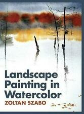 Landscape Painting in Watercolor by Zoltan Szabo (English) Hardcover Book Free S