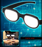 Anime Japanese Cosplay Funny Prop LED Glowing Glasses Black Glasses Gift