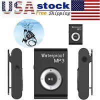 Waterproof Sports Swimming MP3 Player HiFi Stereo Music Walkman w/ FM Radio Clip