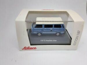 volkswagen T3 westfalia 1/87 schuco bleu