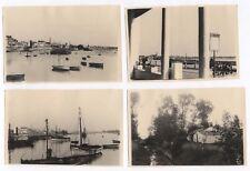PHOTO ANCIENNE Vendée Saint Gilles La Croix de Vie Port Pêche Bateau Vers 1930